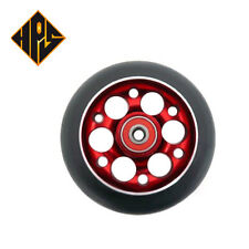 2X PRO STUNT SCOOTER RED DRILLED METAL CORE WHEELS 100mm 88A ABEC 9 BEARING 11