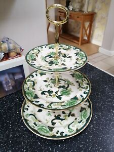 Masons CHARTREUSE three tier cake stand