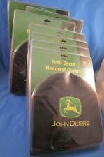 WHOLESALE LOT OF 6 PAIR JOHN DEERE EMBROIDERED CAR AUTO TRUCK  HEADREST COVERS
