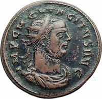 TACTUS Authentic Ancient 275AD Genuine Original Roman Coin w ROMA i77601