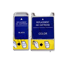 2 CARTUCCE PER EPSON T007 T008 Stylus Photo 790, 870, 890, 895, 875DC, Photo 915