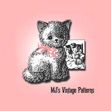 Vintage 1940s Crochet Kitten Kitty Stuffed Animal Pattern