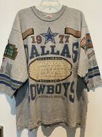 Vintage Dallas Cowboys Shirt Long Gone 3/4 Sleeve Shirt Mens XL Americas Team