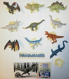 JURASSIC WORLD COMPLETE SET OF 10 WITH ALL PAPERS KINDER JOY SURPRISE 2021