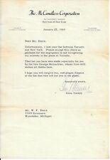 Gene Tunney Signed 1959 Letter Autographed PSA/DNA LOA Full Name Boxing Legend