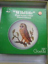 1976 Goebel Wildlife Bird Barn-Owl Plate in Bas Relief 3rd Edition West Germany