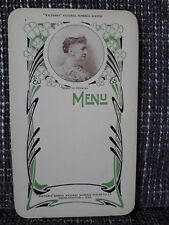 MENU --- Victoria Natural Mineral Water --- Années 1900 --- Queen of Denmark