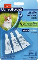 Hartz Ear Mite Treatment for Cats, Contains Aloe - 3 tubes - Package May Vary