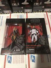 Star Wars Black Series 6 inch Ahsoka Tano & Clone Commander Wolffe Exclusive Lot