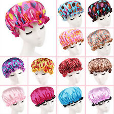 Women Shower Caps Colorful Bath Shower Hair Cover Adults Waterproof Bathing YA