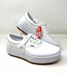 VANS ERA STACKED Low Top LEATHER White Women's Size Sneakers VN0A4BTOOER