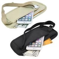 Travel Pouch Hidden Zippered Waist Compact Security Money Waist Belt Bag SD