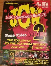 Juggalo Championship Wrestling Vol. 2 Poster JCW insane clown posse ecw wwe rare