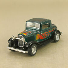 1932 Ford 3-Window Coupe Green Hot Rod Flames 1:34 12.5cm DieCast PullBack OLP