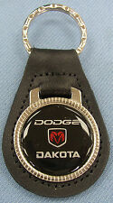 Dodge DAKOTA Black Leather Keyring 1987 1988 1989 1990 1991 1992 1993 1994 1995