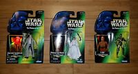 Star Wars Power of the Force Action Figure lot of 3  C-3PO, Han Solo & Leia