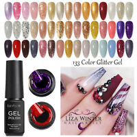 133 Colors LILYCUTE 7ml Glitter UV Gel Nail Polish Soak Off Nail Art Gel Varnish