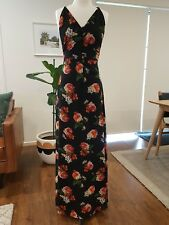 Jarlo floral chiffon bohemian maxi dress size XS
