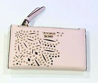 Victorias Secret Studded Cut-Out Card & ID Holder Wallet Pink