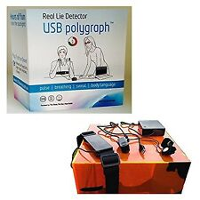 USB Polygraph Machine Real Home Lie Detector Test Testing Kit Truth Dare Game