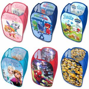 Laundry Bag Toy Storage Pop Up Mesh Foldable Bin Hamper Kids Children Boys Girls
