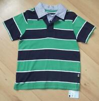 BNWT MOTHERCARE Boys Clothes 7-8 Years Rugby Short Sleeve Polo Top Blue Green