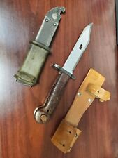 "Russian Ak Bayonet With Scabbard 13"" Long"