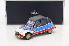 1/18 - NOREV - CITROEN 2CV BASKET 1976 White/Red/Blue