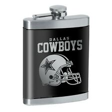 NFL DALLAS COWBOYS FLASK ~ 8oz. STAINLESS STEEL LASER ENGRAVED
