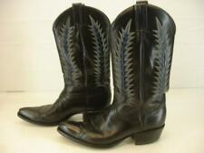 Tony Lama Mens 8.5 D M Black Stallion Cowboy Western Boots El Paso USA Made Vtg
