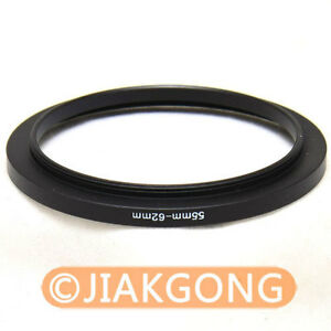 55mm-62mm 55-62 mm Step Up Filter Ring Stepping Adapter
