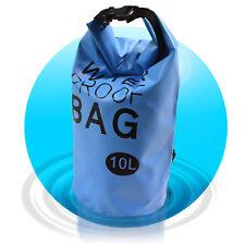 Dry Bag Waterproof Bag 10 L wasserfester Beutel Seesack Segeltasche Blau