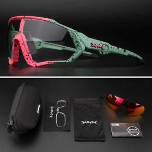 Photochromic Sunglasses Sports Mountain Bike Glasses UV400 Goggles Men Women