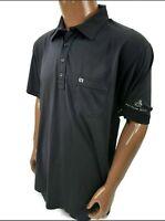 Mens Large Travis Mathew blue stretch pocket golf polo shirt Pelican Hill