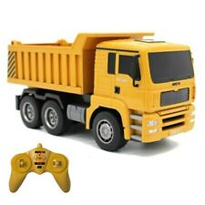 (US STOCK) Huina 1/18 2.4G 6CH RC Dump Truck With Sound And Light RTR Version