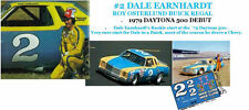 CD_507 #2 Dale Earnhardt Sr.  1975 Monte Carlo  1:64 Scale Decals ~OVERSTOCK~