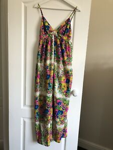 TopShop Maxi Colourful Dress 36/uk8 New
