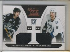 MARTIN ST LOUIS RYAN MALONE DUAL GAME USED JERSEY #/599 2010-11 LUXURY SUITE