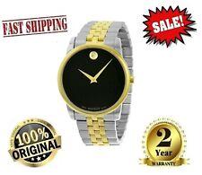 ✅ Movado Museum 0606899 Black Dial Two-tone Chrono Quartz Men's Watch