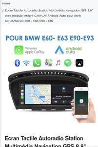 Ecran Carplay Bmw e60 e63 e90 e93