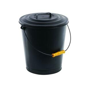Pleasant Hearth Fireplace Ash Bucket Reinforced Base Black Finish (6 Gallons)