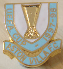 ASTON VILLA 1997-98 UEFA CUP badge Maker REEVES B'ham Brooch pin 22mm x 26mm