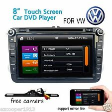 For VW Golf 5 6 MK5 Passat CC EOS Jetta Car DVD Player Radio GPS Navi Bluetooth