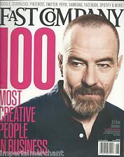 Fast Company magazine Bryan Cranston 100 most creative people in business