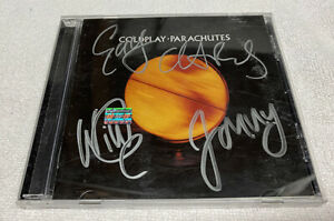Coldplay Parachutes CD Signed Chris Martin Autographed Yellow
