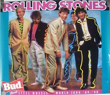 ROLLING STONES STEEL WHEELS 1989 -1990 VINTAGE WORLD TOUR CONCERT PROMO POSTER