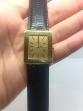 VACHERON CONSTANTIN 18K YELLOW GOLD MEN'S WATCH W/LEATHER BAND