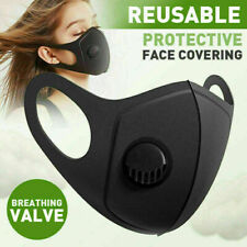 Protection Black Face Mask Breathable Virus Mouth Washable Protection - Msk-E