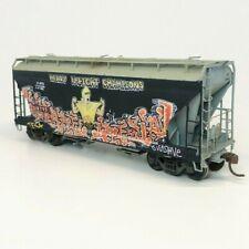 Custom Weathered & Graffiti HO Scale Union Pacific Athearn 2-Bay 2970 Hopper