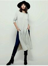 Free People Cotton Blend 3/4 Sleeve Solid Dresses for Women